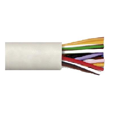 Cable altavoz con funda 5x0,22 mm² Blanco